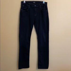 Hudson Byron 5 PKT Straight Black Jeans Size 34